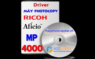 Tải driver máy Photocopy Ricoh Aficio MP 4000