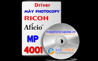 Tải driver máy Photocopy Ricoh Aficio MP 4001
