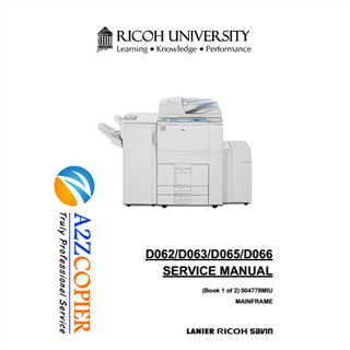 [SERVICE MANUAL] Download tài liệu máy Photocopy Ricoh Aficio MP 6001/7001/8001