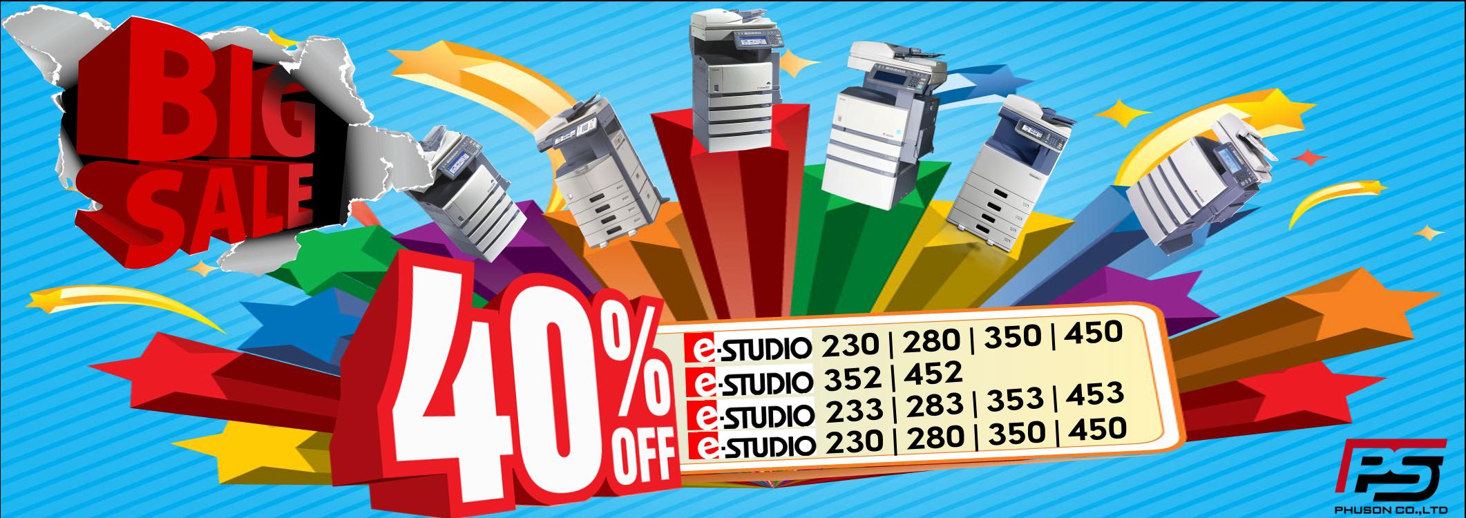 Giảm giá lên tới 40% cho các model máy Photocopy văn phòng của Toshiba